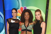 Moran Atias, Lorraine Toussaint and Michaela McManus attend NBC's New York Mid Season Press Junket at Four Seasons Hotel New York on January 24, 2019 in New York City.