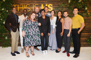 "(L-R) Ron Cephas Jones, Sterling K. Brown, Chrissy Metz, Chris Sullivan, Siddhartha Khosla, Justin Hartley, Mandy Moore, Susan Kelechi Watson, Michael Angarano, and Milo Ventimiglia attend NBC's ""This Is Us"" Pancakes with the Pearsons at 1 Hotel West Hollywood on August 10, 2019 in West Hollywood, California."