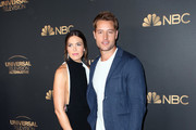 Mandy Moore and Justin Hartley attend the NBC and Universal EMMY nominee celebration at Tesse Restaurant on August 13, 2019 in West Hollywood, California.
