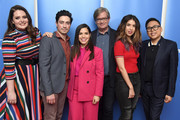 "Lauren Ash, Ben Feldman, America Ferrera, Mark McKinney, Nicole Bloom, Nico Santos, attends NBC And Universal Television's ""Superstore"" Academy For Your Consideration Press Line at Universal Studios Hollywood on March 05, 2019 in Universal City, California."