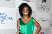 Actress Adepero Oduye arrives at NBCUniversal's 69th Annual Golden Globes Viewing and After Party Sponsored By Chrysler and Hilton held at The Beverly Hilton hotel on January 15, 2012 in Beverly Hills, California.