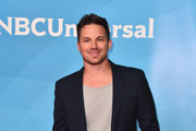 Actor Matt Lanter attends NBCUniversal's Summer Press Day 2018 at The Universal Studios Backlot on May 2, 2018 in Universal City, California.