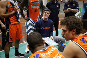 Cairns Taipans Head Coach Mike Kelly talks to his players during the 2018 NBL Blitz match between the Cairns Taipans and Perth Wildcats at Ballarat Minerdrome on September 22, 2018 in Ballarat, Australia.
