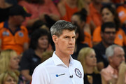 Taipans coach Mike Kelly looks on during the round two NBL match between the Cairns Taipans and the Illawarra Hawks at Cairns Convention Centre on October 21, 2018 in Cairns, Australia.