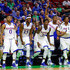 Wayne Selden Jr. Devonte Graham Photos - The Kansas Jayhawks bench reacts to a play late in the second half against the Austin Peay Governors during the first round of the 2016 NCAA Men's Basketball Tournament at Wells Fargo Arena on March 17, 2016 in Des Moines, Iowa. - NCAA Basketball Tournament - First Round - Des Moines