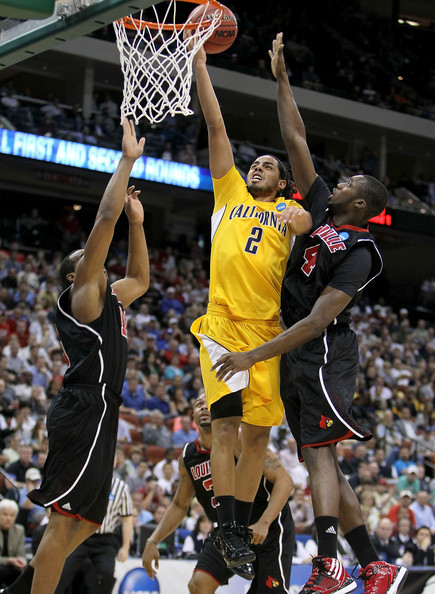 Jorge Gutierrez Jorge Gutierrez #2 of the California Golden Bears shoots the ball while defended by Rakeem Buckles #4 of the Louisville Cardinals during the first round of the 2010 NCAA men's basketball tournament at Jacksonville Veteran's Memorial Arena on March 19, 2010 in Jacksonville, Florida.