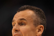 Head coach Billy Donovan of the Florida Gators reacts in the first half while taking on the Marquette Golden Eagles during the 2012 NCAA Men's Basketball West Regional Semifinal game at US Airways Center on March 22, 2012 in Phoenix, Arizona.