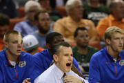 Head coach Billy Donovan of the Florida Gators watches his team play against the Northwestern State Demons during the second round of the 2013 NCAA Men's Basketball Tournament at The Frank Erwin Center on March 22, 2013 in Austin, Texas.