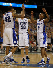 Jon Scheyer Lance Thomas NCAA Basketball Tournament - South Regional - Houston