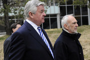 NFL owner Jerry Richardson of the Carolina Panthers (L) and NFL lawyer Bob Batterman arrive for court ordered mediation at the U.S. Courthouse on April 19, 2011 in Minneapolis, Minnesota. Mediation was ordered after a hearing on an antitrust lawsuit filed by NFL players against the NFL owners after labor talks between the two broke down last month.