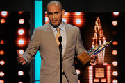 Ian Laperriere of the Philadelphia Flyers speak after he accepts the Bill Masterton Memorial Trophy during the 2011 NHL Awards at The Pearl concert theater at the Palms Casino Resort June 22, 2011 in Las Vegas, Nevada.