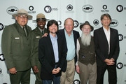 National Park Rangers Gerard Baker, Shelton Johnson, director Ken Burns, writer Dayton Duncan, Lee Stetson, and actor Peter Coyote attend a National Parks celebration hosted by the National Parks Conservation Association and PBS at Central Park on September 23, 2009 in New York City.