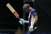 Cameron White of Victoria looks dejected as he leaves the field after being dismissed during the JLT One Day Cup match between New South Wales and Victoria at North Sydney Oval on September 23, 2018 in Sydney, Australia.