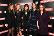 "(L-R) Executive producer Jemima Khan, director/executive producer Amy Berg, executive producer Henrietta Conrad, executive vice president of HBO documentary and family programming Nancy Abraham and executive vice president of HBO documentary and family programming Lisa Heller attend NY premiere of HBO's ""The Case Against Adnan Syed"" at PURE NON FICTION on February 26, 2019 in New York City."