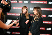 """Executive producers Jemima Khan (L) and Henrietta Conrad attend NY premiere of HBO's """"The Case Against Adnan Syed"""" at PURE NON FICTION on February 26, 2019 in New York City."""