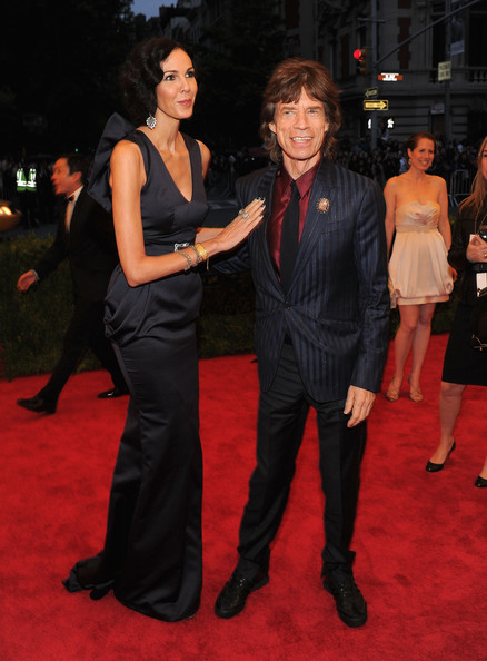 "L&squot;Wren Scott and Mick Jagger attend the ""Schiaparelli And Prada: Impossible Conversations"" Costume Institute Gala at the Metropolitan Museum of Art on May 7, 2012 in New York City."