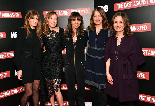 NY Premiere Of HBO's 'The Case Against Adnan Syed' At Pure Nonfiction [the case against adnan syed,documentary,event,premiere,carpet,little black dress,flooring,red carpet,jemima khan,amy berg,executive producer,pure non fiction,family programming,ny,hbo,premiere]