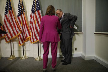 Nancy Pelosi Chuck Schumer Congressional Democratic Leaders Propose Teacher Pay Raises And School Investment