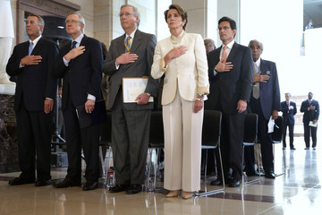 Nancy Pelosi Eric Cantor US Congressional Leaders Honor Nelson Mandela