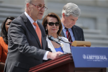Nancy Pelosi House And Senate Democratic Leadership Announce Their 'A Better Deal For Our Democracy' Agenda