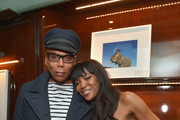 "RuPaul Charles and model Naomi Campbell attend the Los Angeles launch of ""Naomi"" at Taschen Beverly Hills on April 28, 2016 in Beverly Hills, California."