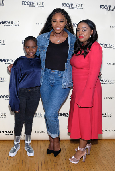 Teen Vogue Summit [fashion,outerwear,event,footwear,fashion design,denim,jeans,performance,jacket,shoe,editor in chief,naomi wadler,serena williams,lindsay peoples wagner,l-r,california,los angeles,teen vogue,72andsunny,teen vogue summit]