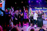 (L-R) Marty Raybon of Shenandoah, Tim Jones of Whiskey Wolves of the West, Jamie O'Neal, Charles Esten, Kimberly Williams-Paisley, Tegan Marie, Bonnie Hunt and Emily West perform onstage during Nashville's 80's dance party to end ALZ benefitting the Alzheimer's Association on September 29, 2019 in Nashville, Tennessee.