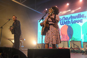 Dan Auerbach and Yola perform during To Nashville, With Love A Concert Benefiting Local Tornado Relief Efforts at Marathon Music Works on March 09, 2020 in Nashville, Tennessee.