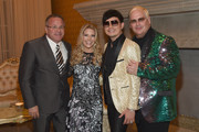 (L-R) ACM/CEO Pete Fisher, Tracie Hamilton of J/P HRO, host Newman Arndt and host Johnathon Arndt attend Nashville Shines for Haiti benefiting Sean Penn's J/P Haitian relief organization featuring Tim McGraw hosted and underwritten by Johnathon Arndt and Newman Arndt at the Arndt Estate on October 24, 2017 in Brentwood, Tennessee.
