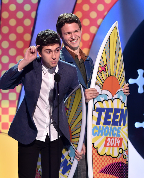 Teen Choice Awards Show [talent show,youth,fun,event,outerwear,performance,suit,comedy,actors,nat wolff,ansel elgort,teen choice awards,los angeles,california,the shrine auditorium,fox,l]