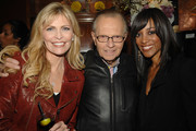 Shawn Southwick-King, Larry King and Shaun Robinson attend Natalie Cole's 60th Birthday Party on February 1, 2010 in Beverly Hills, California.