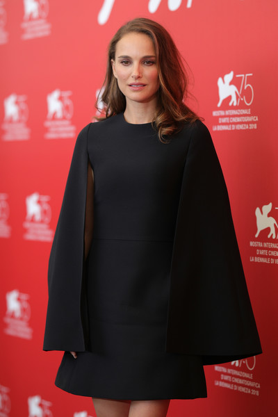 'Vox Lux' Photocall - 75th Venice Film Festival [clothing,outerwear,fashion model,fashion,premiere,dress,carpet,hairstyle,flooring,a-line,lux photocall - 75th,natalie portman,photocall,venice,italy,sala casino,vox lux,venice film festival,75th venice film festival]