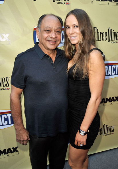 Cheech Marin with sweet, Wife  Natasha Rubin