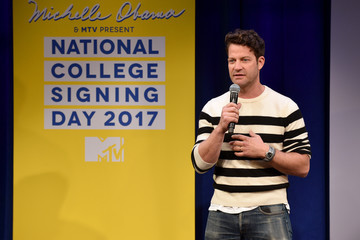 Nate Berkus MTV's 2017 College Signing Day with Michelle Obama - Inside