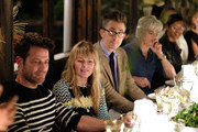 (L-R) Nate Berkus, Amy Astley and Michael Haineyattend the Nate + Jeremiah For Living Spaces Upholstery Collection Launch Dinner at Gallow Green at the McKittrick Hotel on September 25, 2018 in New York City.