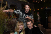 (L-R) Amy Astley, Nate Berkus and Jeremiah Brent attend the Nate + Jeremiah For Living Spaces Upholstery Collection Launch Dinner at Gallow Green at the McKittrick Hotel on September 25, 2018 in New York City.