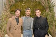 (L-R) Nate Berkus, Tan France and Jeremiah Brent attend Nate + Jeremiah For Living Spaces at HNYPT on April 11, 2019 in Los Angeles, California.
