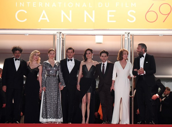 'It's Only The End Of The World (Juste La Fin Du Monde)' - Red Carpet Arrivals - The 69th Annual Cannes Film Festival [juste la fin du monde,the end of the world,red carpet,event,carpet,premiere,fashion,formal wear,ceremony,flooring,suit,tuxedo,xavier dolan,gaspard ulliel,marion cotillard,vincent cassel,nathalie baye,lea seydoux,french,cannes film festival]