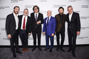 Jack Huston, Morgan Neville, Bob Murawksi, Frank Marshall, Filip Jan Rymsza and Danny Huston. attend The National Board of Review Annual Awards Gala at Cipriani 42nd Street on January 8, 2019 in New York City.