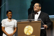 Tamron Hall and Michael Eric Dyson speak onstage at the National CARES Mentoring Movement's third annual For The Love Of Our Children Gala on January 29, 2018 in New York City.  (Photo by Bennett Raglin/Getty Images for National CARES Mentoring Movement))