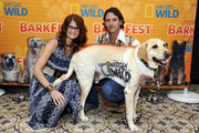 Actress Gina Yates and Mike Johnson attend National Geographic Channel's Barkfest Brunch at Palihouse on April 9, 2016 in West Hollywood, California.