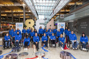 25 Olympic and Paralympic medallists gather to celebrate The National Lottery's 25th Birthday and its transformative effect on Great Britain and Northern Ireland's 864 medal wins since 1997, when funding was first awarded to elite athletes, at Westfield Stratford City on October 24, 2019 in London, England. (Attending medallists Dave Ellis, Samantha Murray, Saskia Clarke, Aaron Mckibbin, Charlotte Evans, Helen Richardson Walsh, Kate Richardson Walsh. Kate Howey , Kelly Gallacher, Sir Lee Pearson, Claire Cashmore, Dame Katherine Grainger, Max Whitlock, Sarah Stevenson, Helena Lucas, Joen Clarke,  Alice Tai, David Smith, Matt Skelhon, Christine Ohuruogo, Sir Chris Hoy, Lizzy Yarnold, Nicola Adams, Baroness, Tanni Grey Thompson, Jenny Jones, Rhona Howie, John Walker , Jeanette Chippington)
