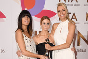 "Claudia Winkleman, Stacey Dooley and Tess Daly with the award for Talent Show for ""Strictly Come Dancing"" during the National Television Awards held at The O2 Arena on January 22, 2019 in London, England."