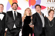 (L-R) Harry Redknapp, Nick Knowles, Emily Atack, John Barrowman and Anne Hegerty pose with The Bruce Forsyth Entertainment Award for I'm A Celebrity… Get Me Out Of Here!  during the National Television Awards held at The O2 Arena on January 22, 2019 in London, England.