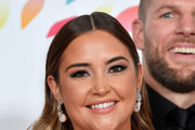 """Jacqueline Jossa accepting the The Bruce Forsyth Entertainment Award for """"I'm A Celebrity... Get Me Out Of Here!"""", pose in the winners room during the National Television Awards 2020 at The O2 Arena on January 28, 2020 in London, England."""