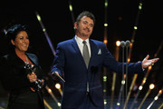 Jessie Wallace and Shane Richie present the award for Best Comedy at the 21st National Television Awards at The O2 Arena on January 20, 2016 in London, England.