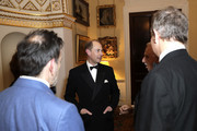 (L-R) Paul Roseby OBE, Prince Edward, Earl of Wessex, David Pearl and Hugh Bonneville attend the National Youth Theatre Baroque And Roll Fundraising Gala 2020 at Spencer House on February 11, 2020 in London, England.