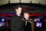 Matt Smith and Dawn Airey, Chief Executive Officer of Getty Images, attend the annual National Youth Theatre Fundraising evening at Cafe Royal on November 26, 2018 in London, England.