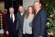 """Jason Watkins, Marc Wootton, Catherine Tate and Martin Clunes attend the UK Premiere of """"Nativity 3: Dude Where's My Donkey?"""" at Vue West End on November 2, 2014 in London, England."""