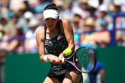 Agnieszka Radwankska of Poland in action during her womens singles semi final match against Aryna Sabalenka of Belarus during Day Eight of the Nature Valley International at Devonshire Park on June 29, 2018 in Eastbourne, United Kingdom.